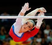 Алия Мустафина на Олимпиаде в Лондоне 2012.