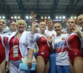 Женская сборная России по спортивной гимнастике.