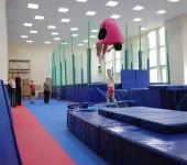 Батут для спортивной гимнастики.