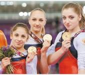 Это Алия Мустафина, Виктория Комова и Седа Тутхалян.