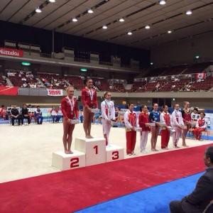 Japan Junior international 2015 Елена Еремина на 3 месте.