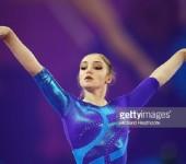 Гимнастка Алия Мустафина на чемпионате России 2016.