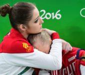 Сборная России по спортивной гимнастики первый день соревнований.